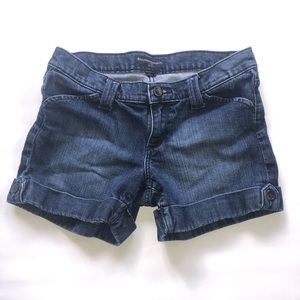 Banana Republic Petite Denim Jean Shorts 2P Cuffed